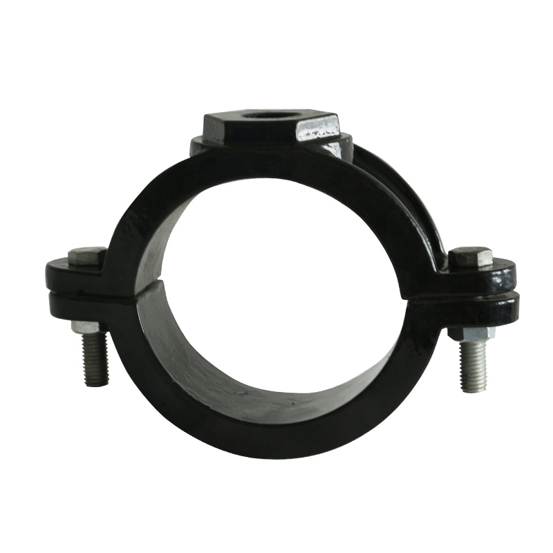 mechanical threaded tee for PVC saddle joint
