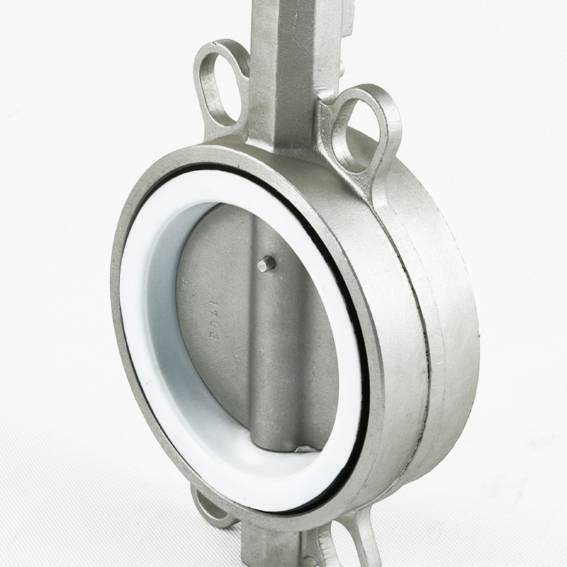 Wafer PTFE Stainless steel butterfly valve