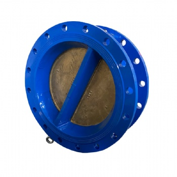 Flange double plate check valve